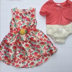 Little Lass bundle dress set girls 18 mos EUC